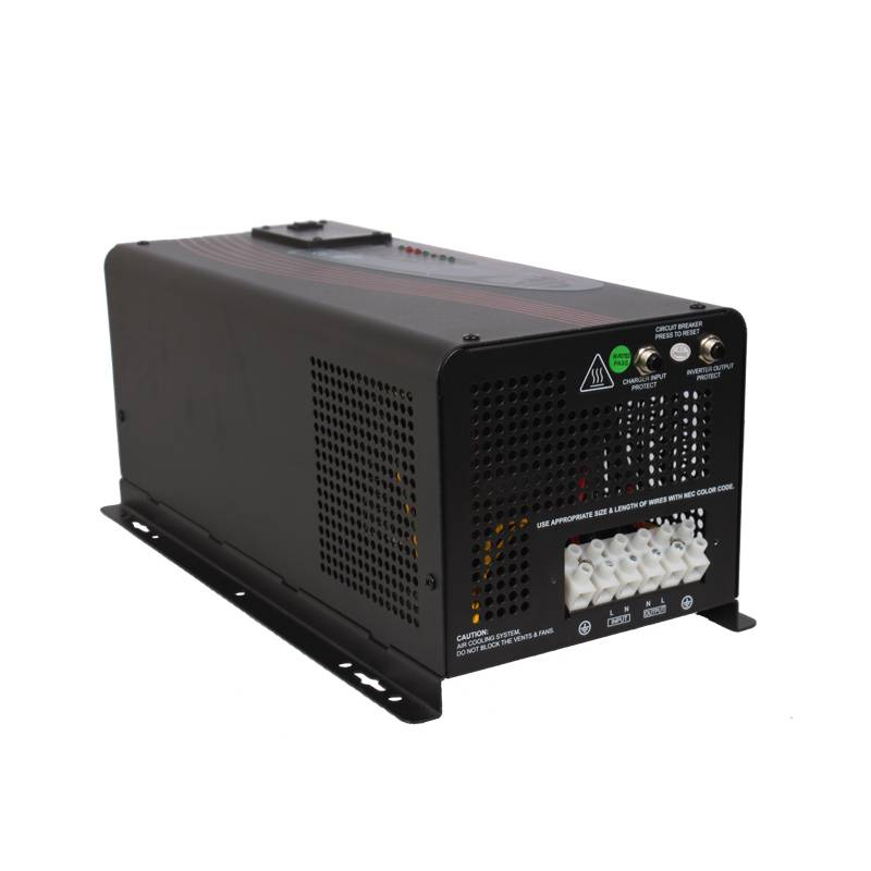 High Quality 5000W DC 24V/48V Input 110/220V AC Smart Charge Motor Inverter for Solar System