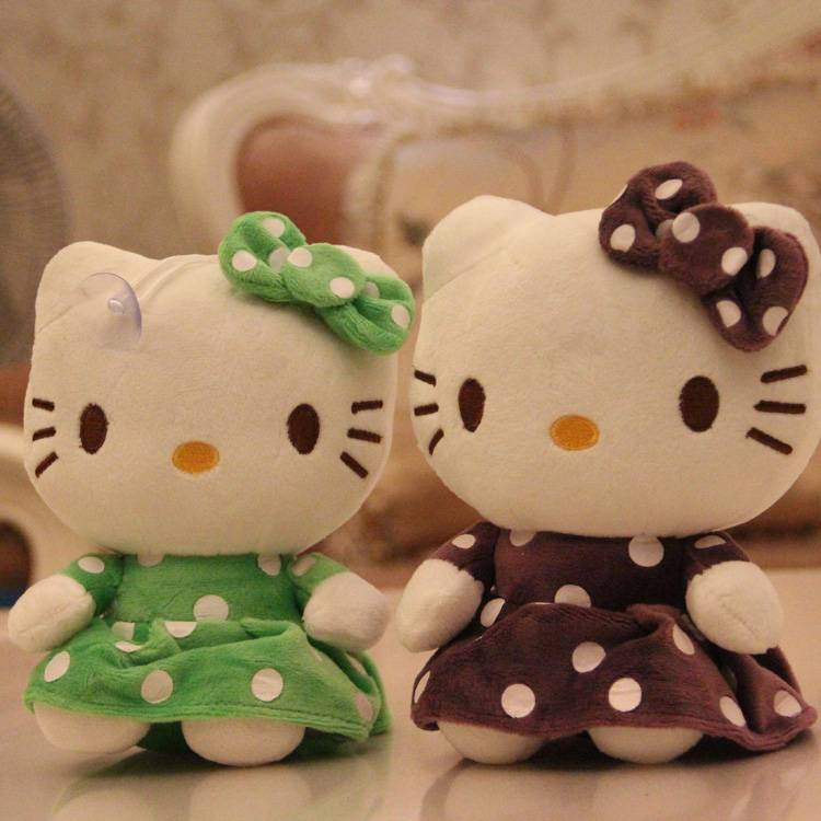 Hello Kitty Stuffed Cat Fabric Plush Toy