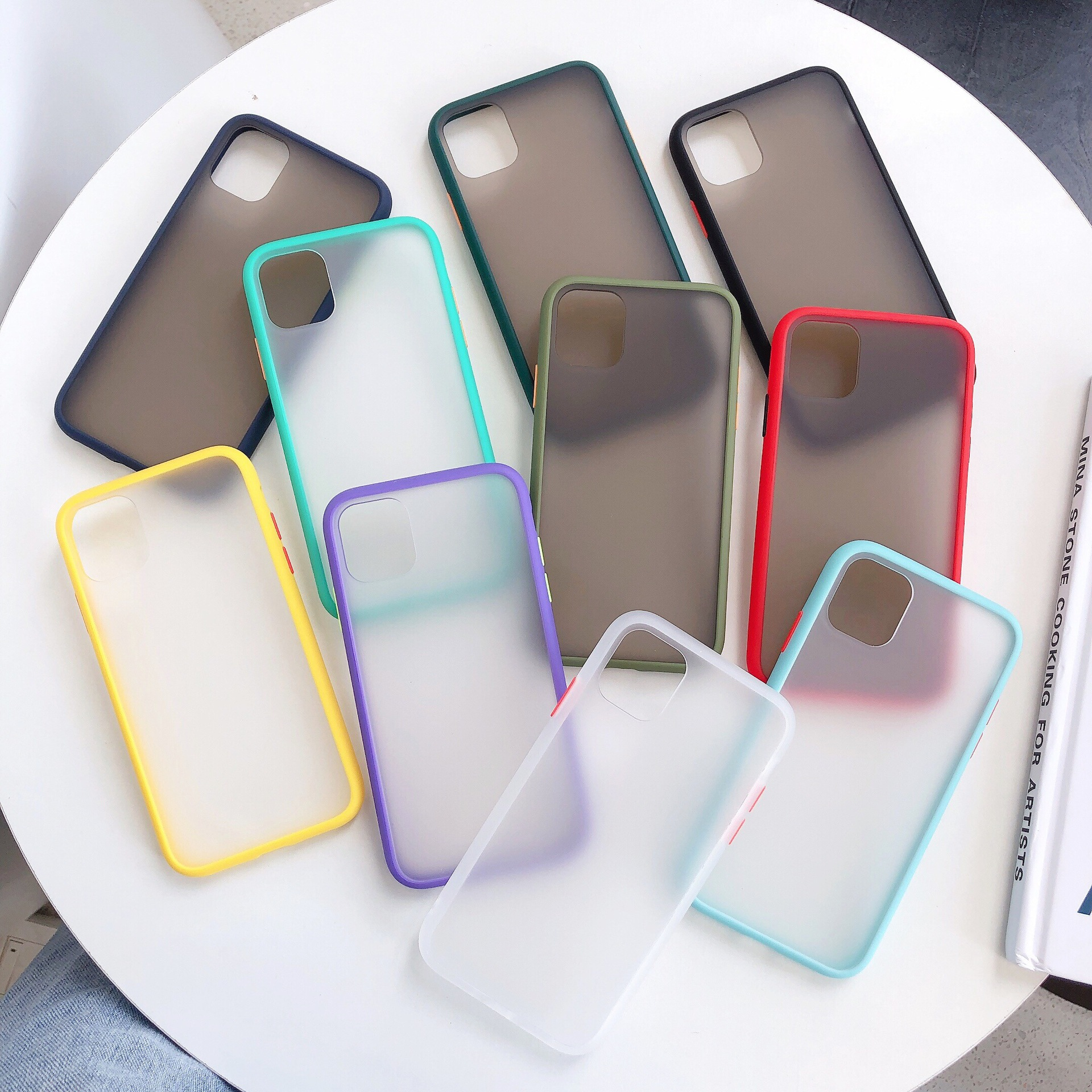Matte PC and Shock-resistant TPU Edges Protective Phone Accessory Phone Case For iPhone 11 Pro Max