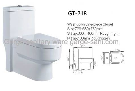 sanitary ware one piece toilet washdown WC