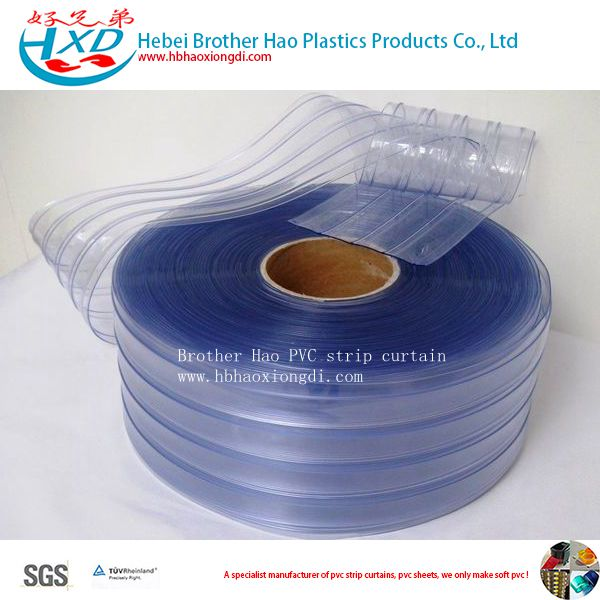 Double Ribbed 3mm Thick PVC Plastic Vinyl Door Strip Curtain