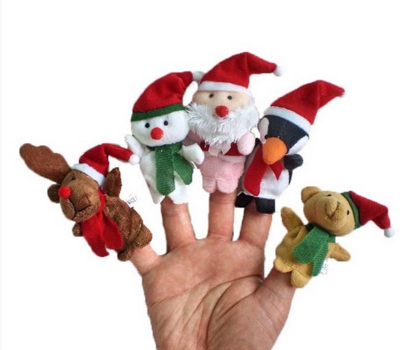 Christmas Plush Animal Hand Puppet Stuffed&Plush Toys Soft Toys/Peluche Marionnettes Main/Peluche Di