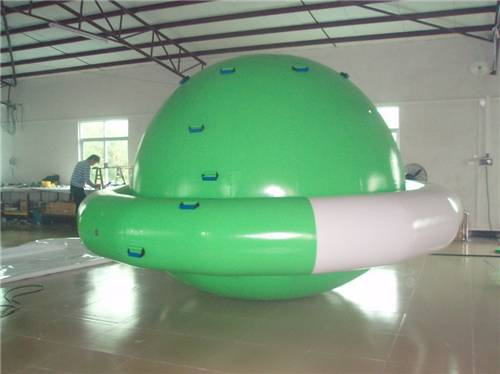 UFO Shape PVC Amazing Inflatable Water Parks / Inflatable Saturn for Climbing or Floating Ball