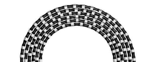 rubber sintered diamond wire saw with 40 beads 11.0mm diameter for granite block squaring