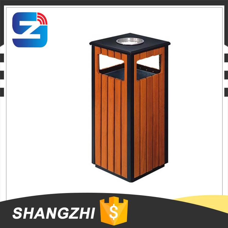 Outdoor Recycling Wooden Garbage Bin