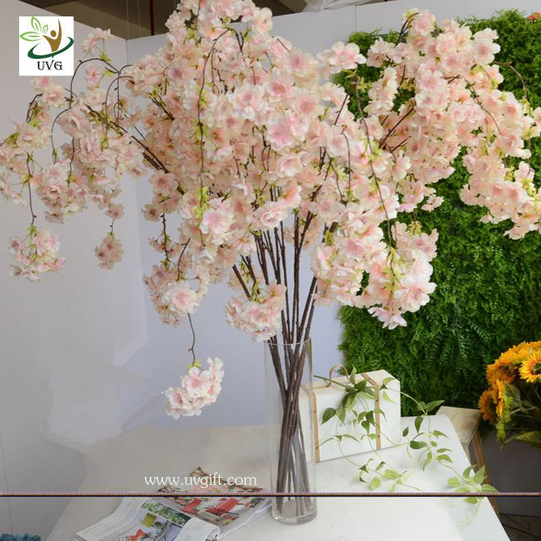 UVG CHR129 new design artificial blossom weeping cherry tree for hotel decoration