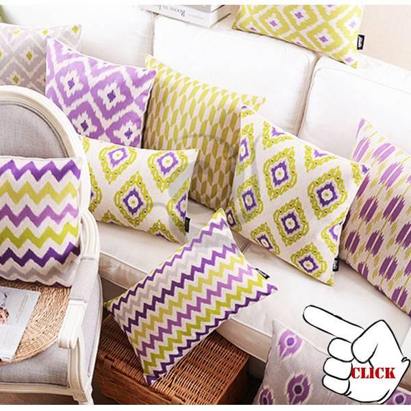 various designs linen sofa cushion cover