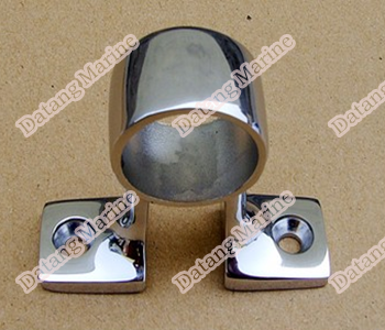 stainless steel handrail base for boat