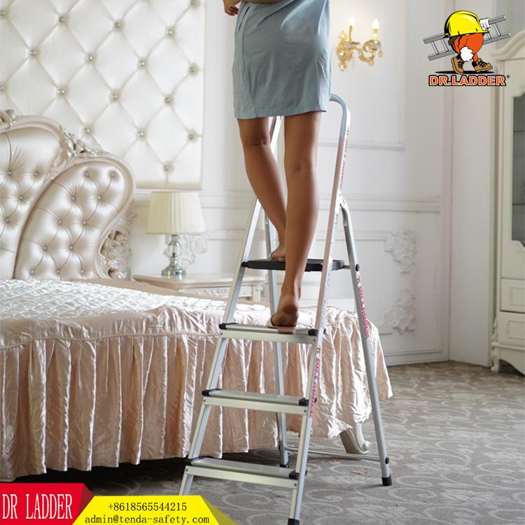 DR LADDER Stainless Steel Folding Ladder Aluminum Alloy Herringbone Ladder