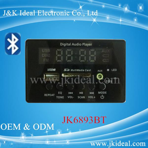 Bluetooth car audio usb fm mp3 usb circuit board