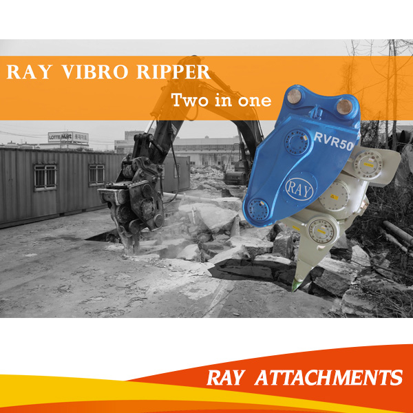 Heavy equipment ripper hydraulic vibro ripper with spare parts