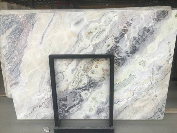 white color marble slabs - dream white