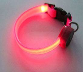 Colorful polyester LED dog collar