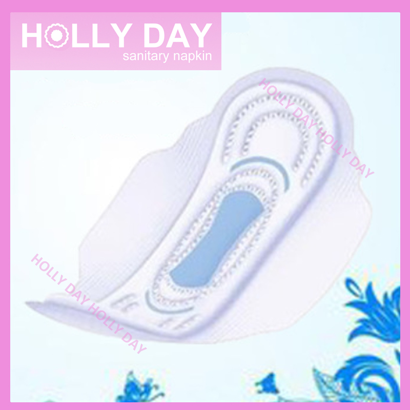 Holly Day Brand OEM Breathable Cotton Sanitary Pad Napkin for Women