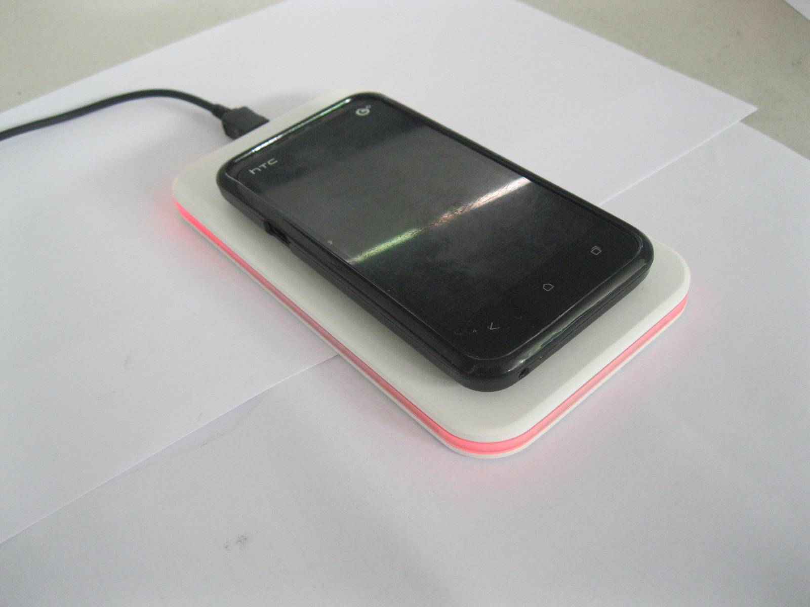 Wireless Charging Pad Transmitter with LED Band