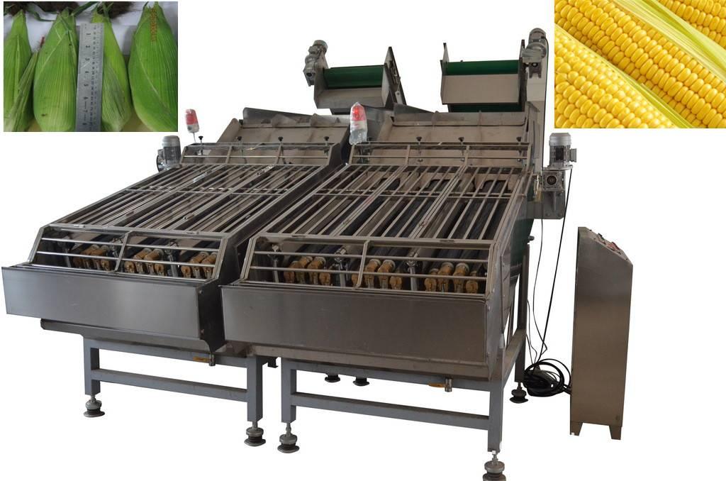 sweet corn husker machine