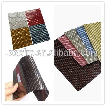 Hot Sale 100% Real flexible Carbon Fiber Decoration soft Sheet 0.3mm