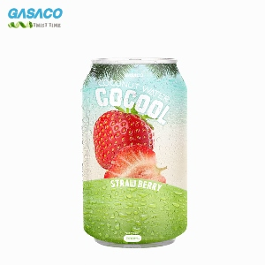 Gasaco Brand Coconut Water - Fresh Coconut Water with Strawberry Juice