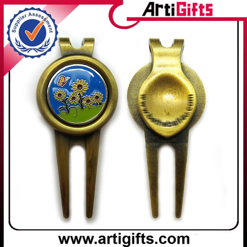 Promotion metal golf cap clip with ball marker
