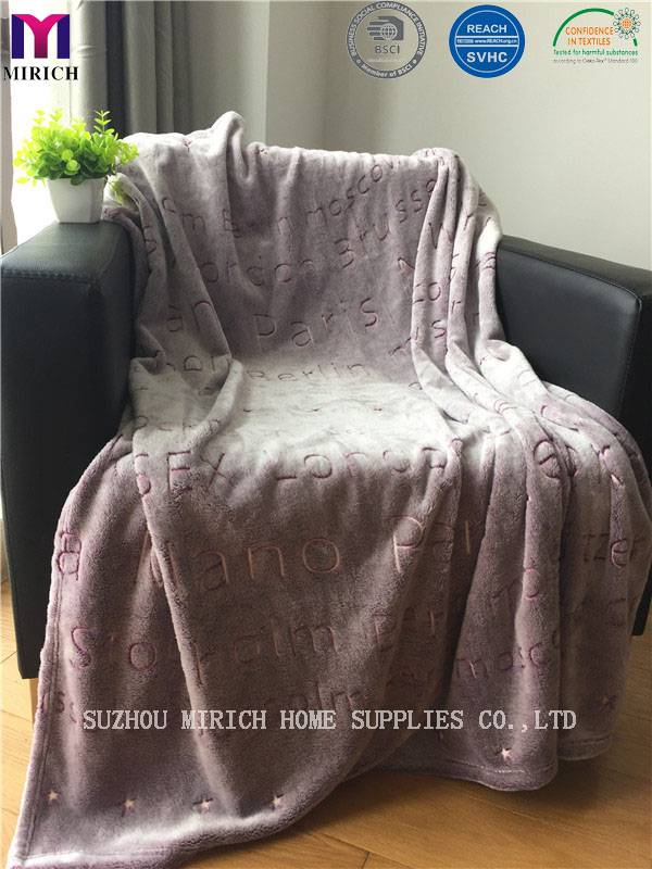 Back Dying Solid Color Luminous New Design Blanket