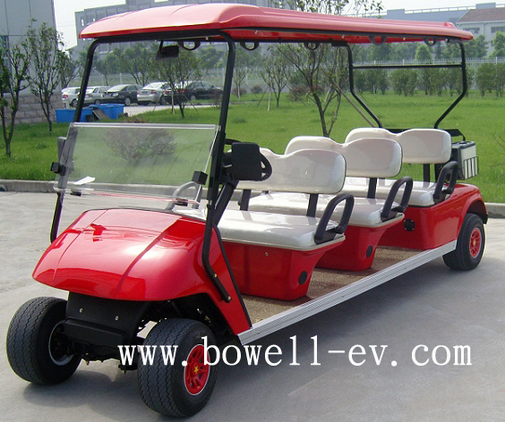 6 seat electric golf car