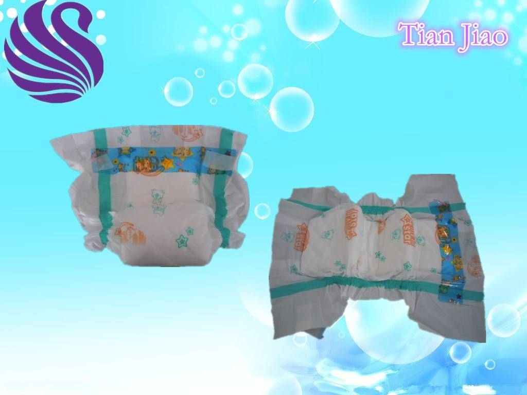 Good Quality Baby Diaper with PE Tape PE Film