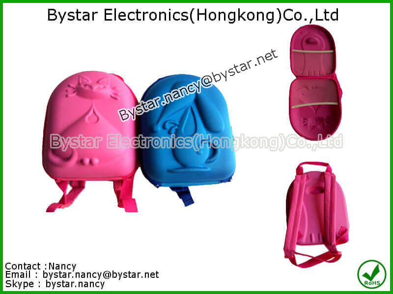 Children backpack school bag hard case EVA carrying case ant-shock case foam EVA case EVA protectiv