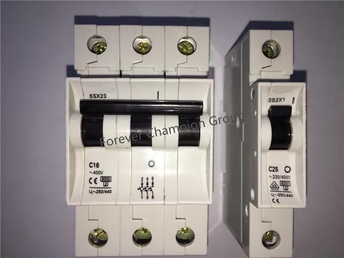 SIEMENS type miniature circuit breaker/MCB