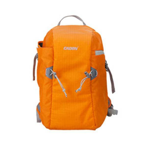 Fashion korean style slr camera insert orange waterproof nylon multifunctional backpack