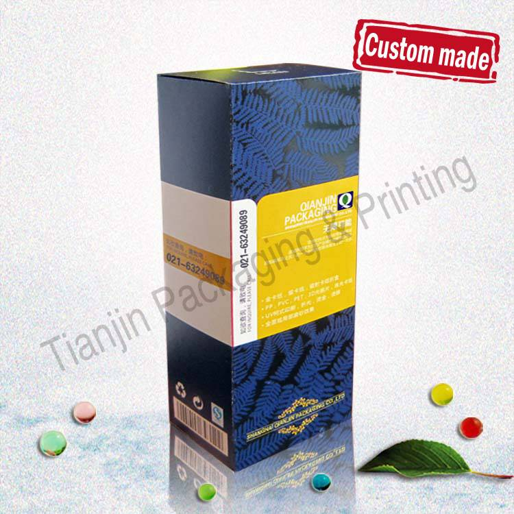 Custom printed luxury aluminum foil package paper cosmetic box