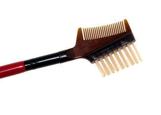 Red Hand-Made Eyebrow Comb Brush With Two Sides