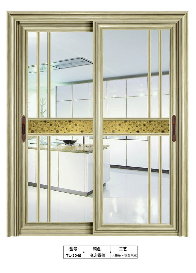 Fashional aluminum glass sliding door and windows TL-3045