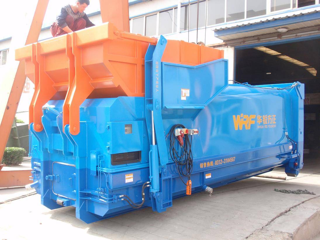 One-piece compressed garbage collection equipment