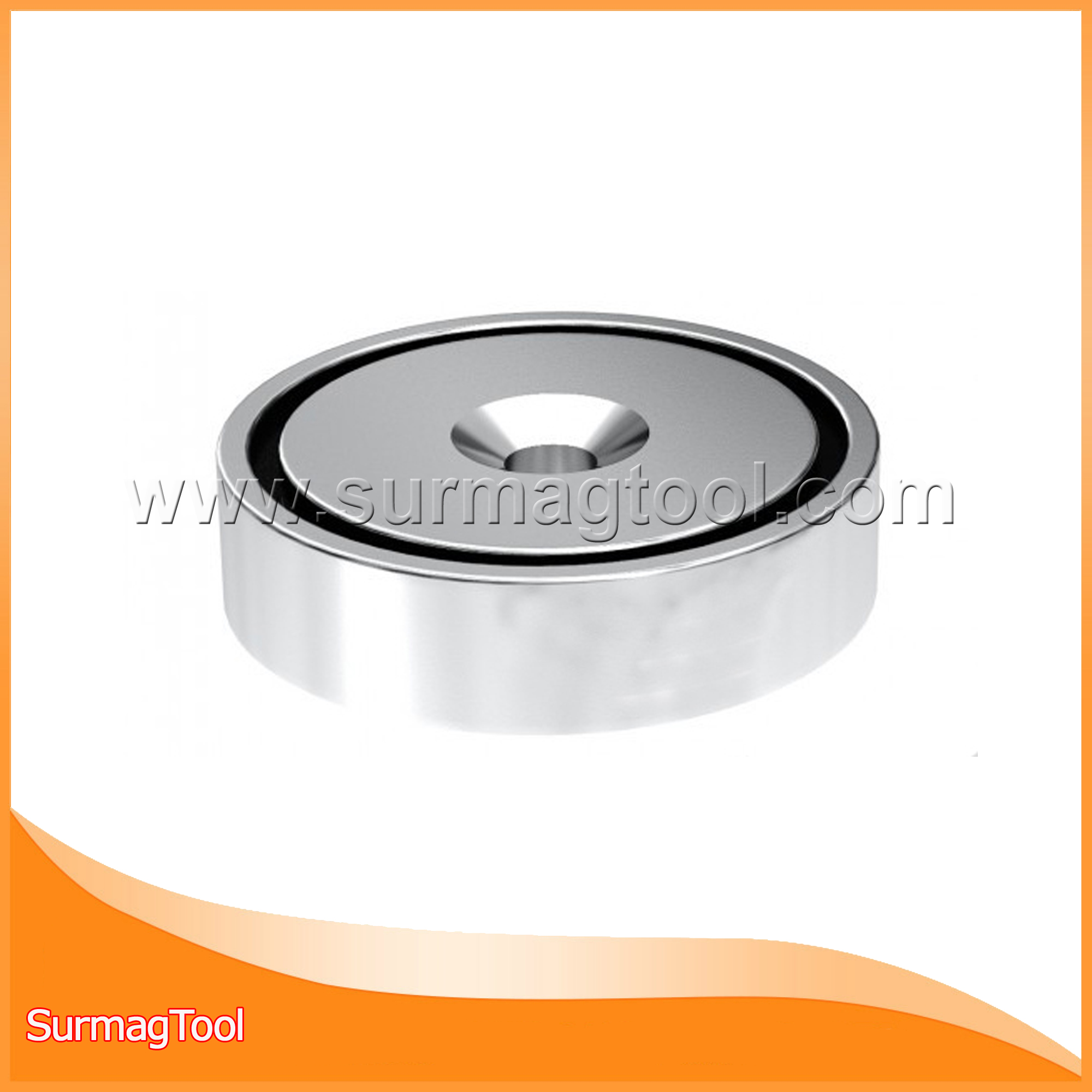 Strong neodymium/ndfeb ring pot magnet