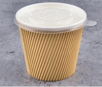 Triple Wall Ripple Kraft Paper Soup Cup