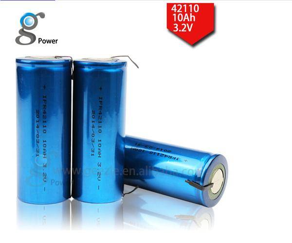 3.2v lifepo4 cylindrical battery IFR42110 high power lithium battery
