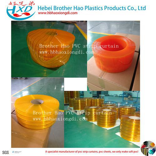 Yellow Anti-insect Soft 2mm Thickness PVC Strip Door Curtian