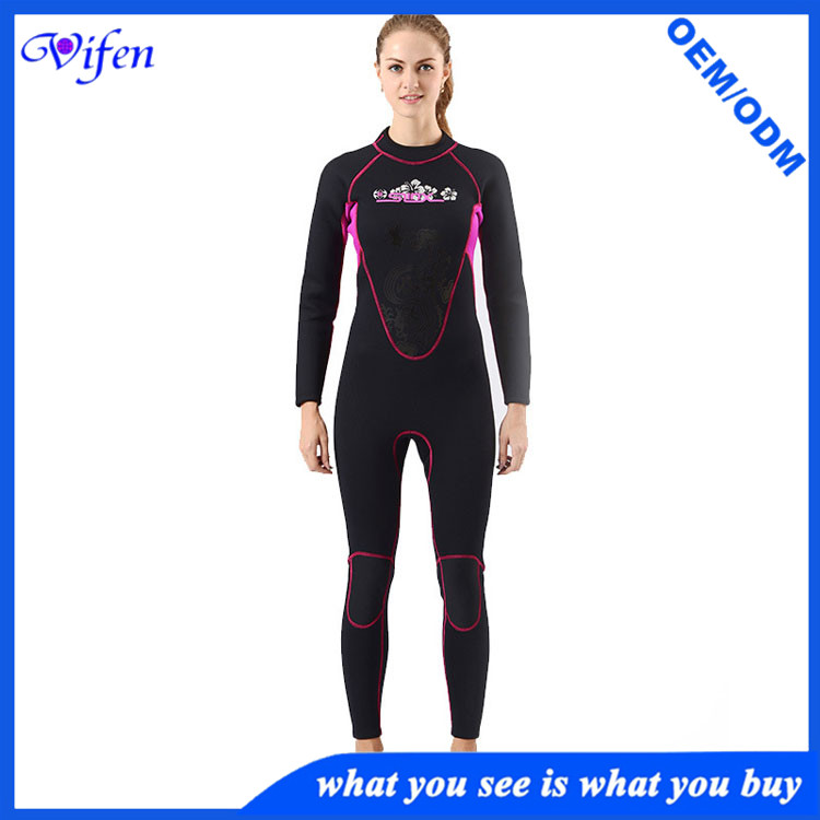 Best Women 3mm full wetsuit scr diving suit scuba wetsuit pro classic SCR with nylon wholesale