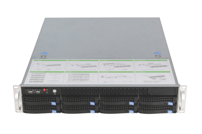 2U Server chassis with server mainboard with 8 hot swap HDD Intel C612 shipset S62322