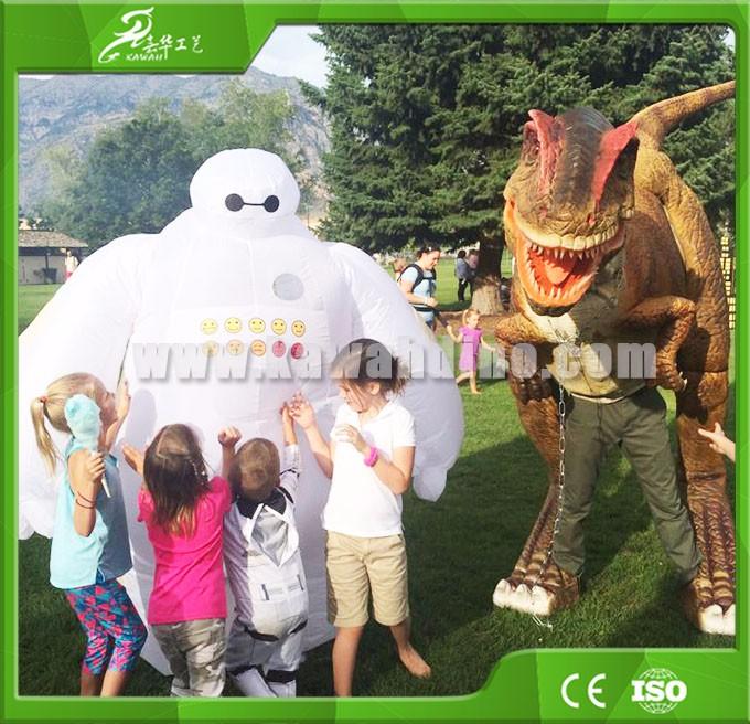 KAWAH Dinosaur Prank Equipment Allosaurus Moving Realistic Dinosaur Costume for sale