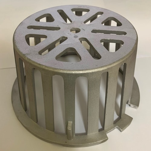 Casting Aluminum Heavy Duty Roof Drain Dome Strainer and Clamping Ring For Roof Drainage