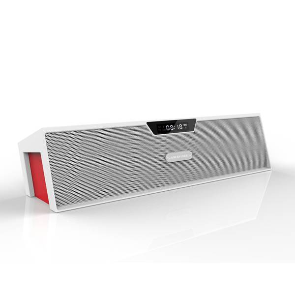 Newest hot sale wireless bluetooth speaker with alarm clock, handsfree, fm radio, support USB&TF car