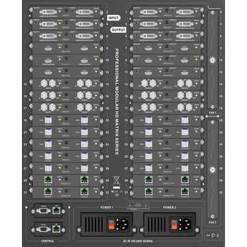 Dual Power Supply HDMI Matrix,Supports 4K/3D,Seamless Switching