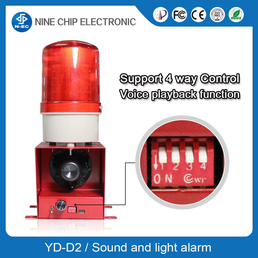 Flashing Light Alarm with Fire Alarm Sounds - Manufacturer