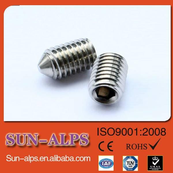 DIN914/DIN916 high-strength Hex socket cup point set screw,cone point set screw,flat point set screw