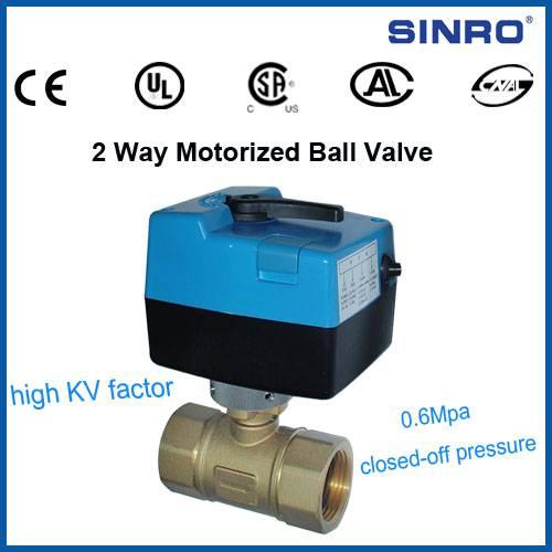 2 way motorized ball valves