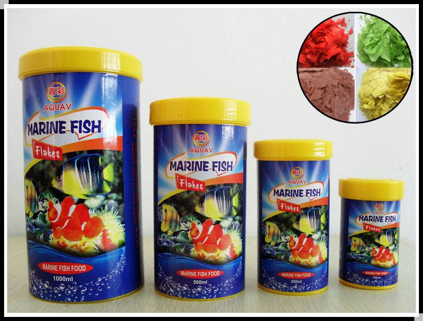 Marine fish flakes