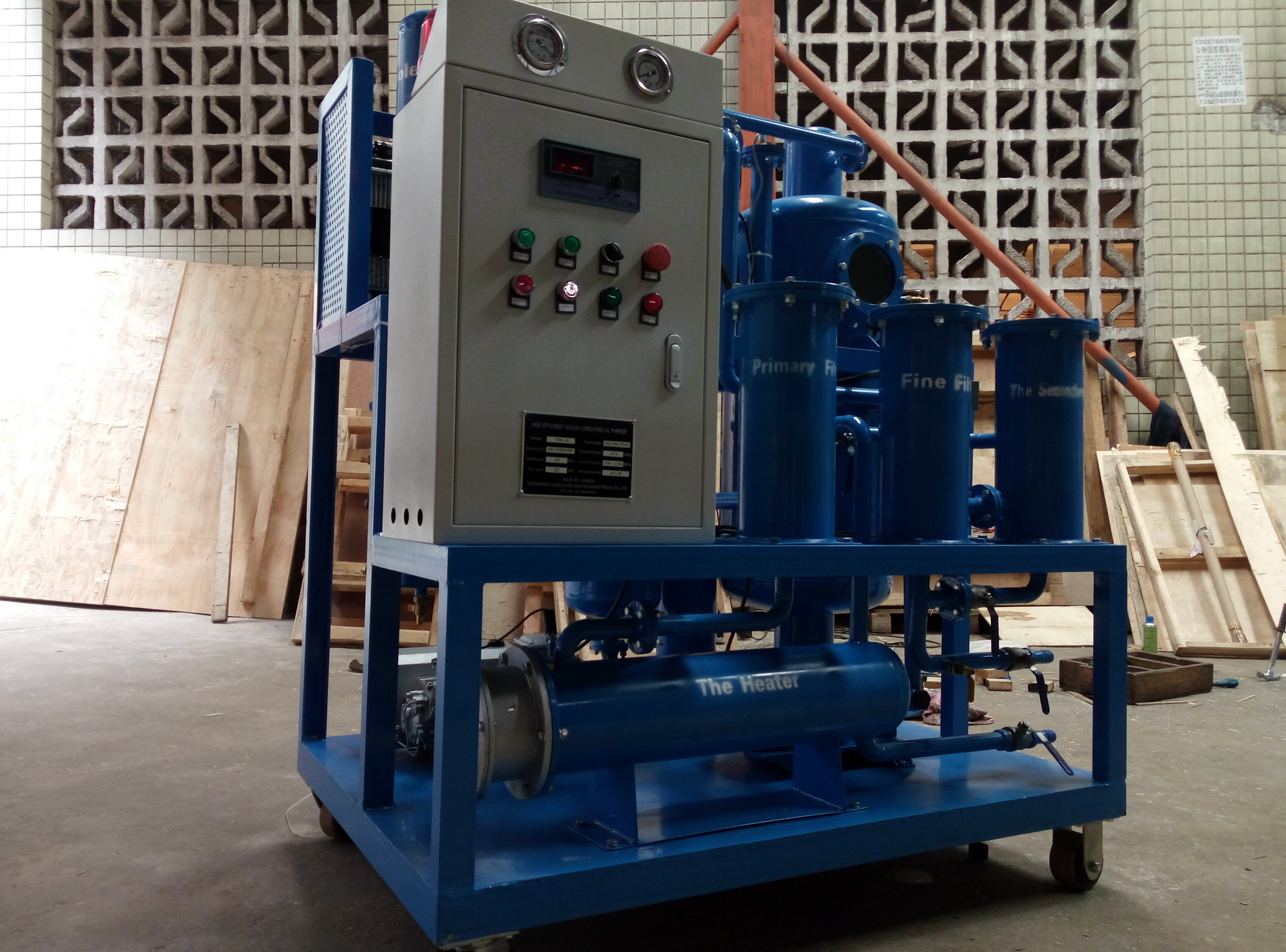 JUNSUN 2018 Latest High Performance Lubricating Oil Purifier/ Hydraulic Oil Filtration System