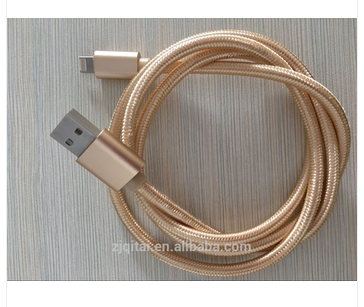 Good quality Low price braided 2in1 usb charger micro cable
