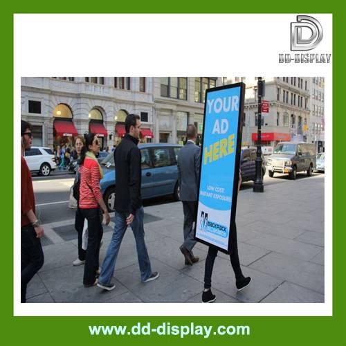New generation backpack walking billboard